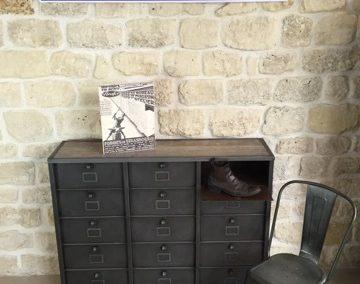 Meuble industriel 12 clapets-Strafor-chaussures-Steel-loft-Paris