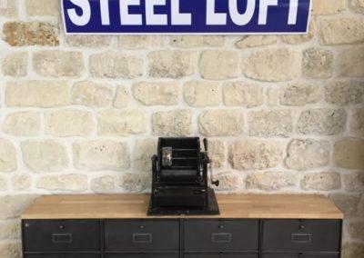 Meuble industriel casiers Ronéo années 50 Steel Loft Paris