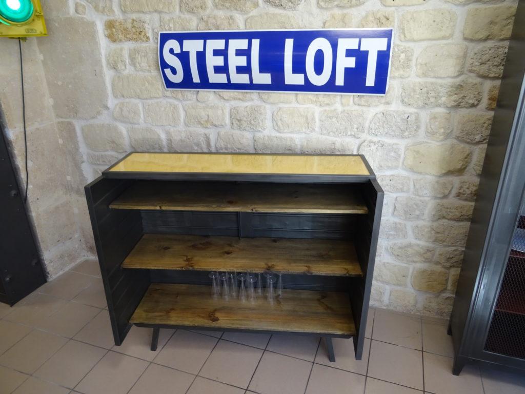 bar industriel meuble epicerie atelier usine steel loft paris 2 steel loft paris. Black Bedroom Furniture Sets. Home Design Ideas