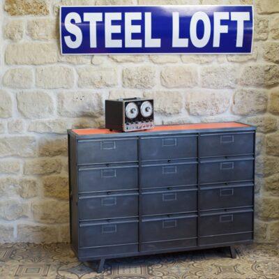 Meubles chaussures archives steel loft paris - Meubles industriels paris ...