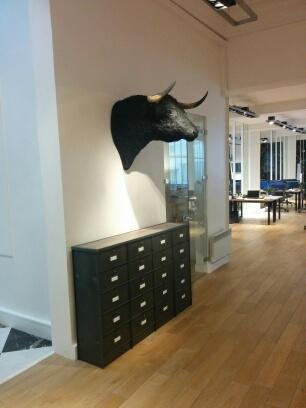 meuble casier industriel clapets chaussure tele steel loft. Black Bedroom Furniture Sets. Home Design Ideas