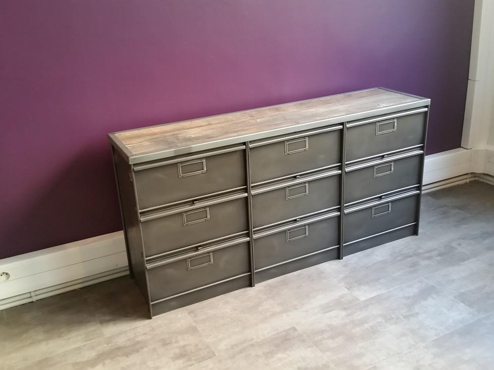 nos meubles chez nos clients steel loft paris. Black Bedroom Furniture Sets. Home Design Ideas